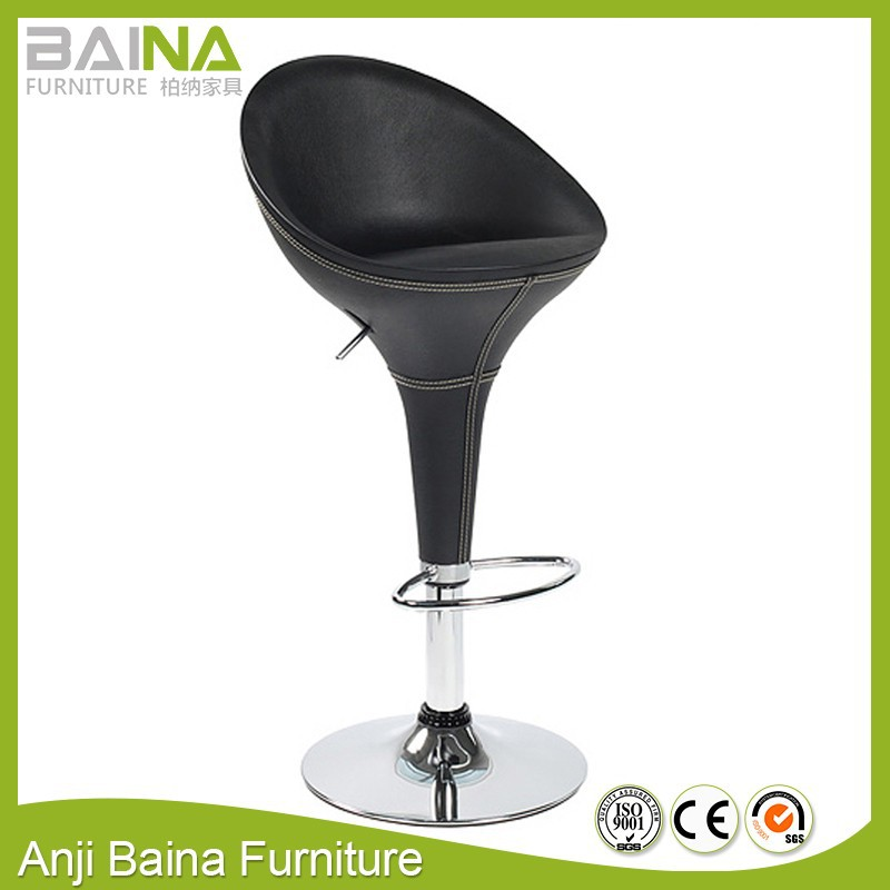 Cheap high back indian stools pvc leather swivel
