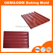 Non-stick Silicone Coating Baguette Trays 5 Loafs