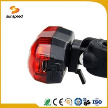USB rechargeable LED light bike, plasticLED bike light for riding
