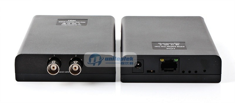 1CH NETWORK Coaxial POE Extender IP Camera Netcom Signal Transmission Amplifier a Cable Extend 2500 Meters,Max 600M Date+Power