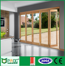Soundproof Used Commercial Glass Aluminium Folding Entry Door For Modern House