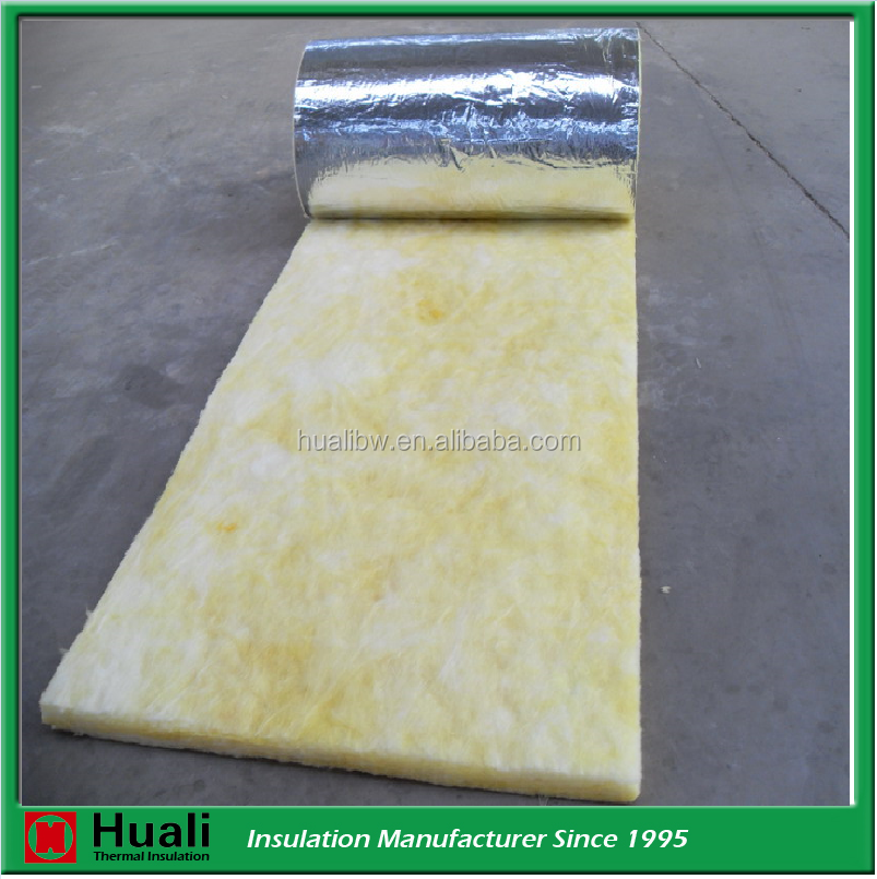 Density 10kg/m3 fireproof aluminum foil backed fiber glass wool insulation price