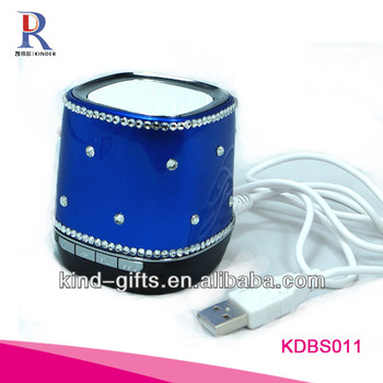 2013 Christmas Gifts Bling Bling Rhinestone Diamond Surround Speakers With Crystal China Supplier