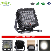LED6360 Black aluminum housing IP68 dc10-30v 9inch 360w square led driving light for Sport Utility 4WD 4X4 Mining Marine Car exc