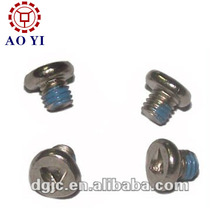 Thread locking flat head triangle electronic screws