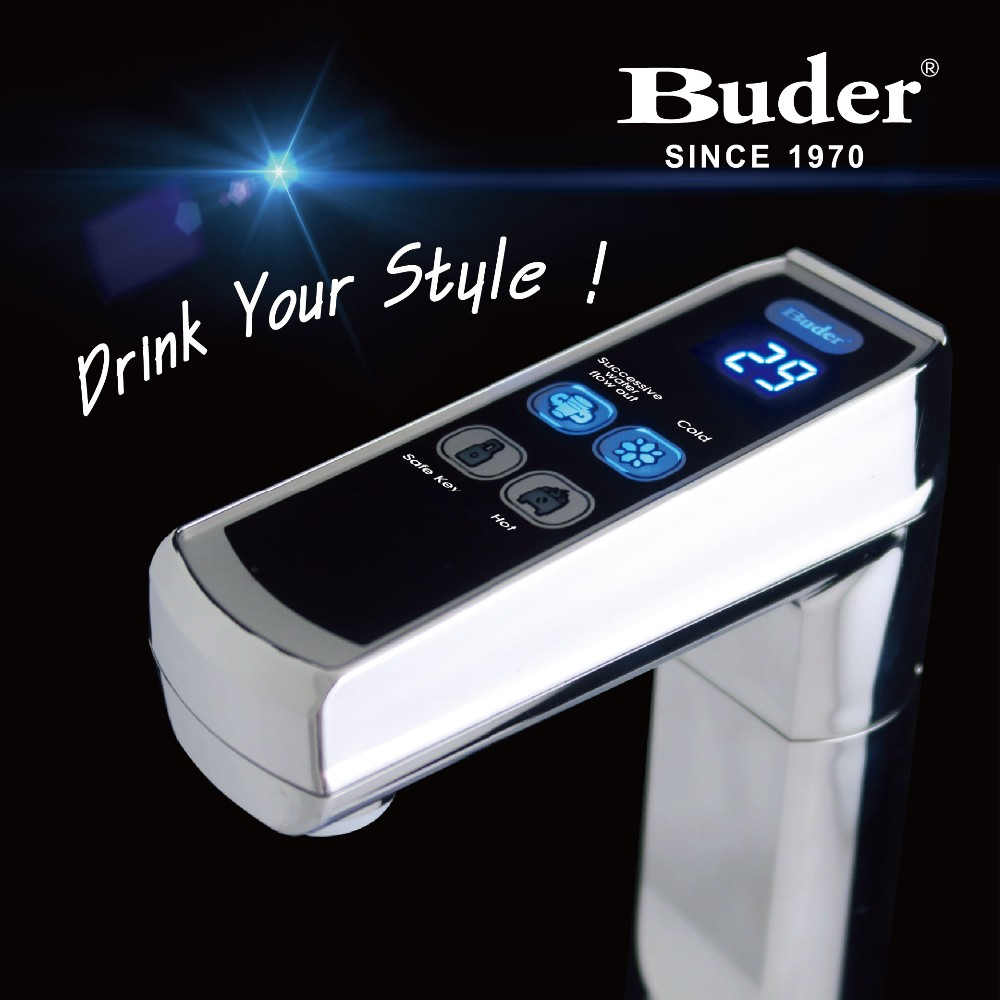 [ Taiwan Buder ] Kitchen Equipment Electronic LED Touch-Screen Water Faucet And Hot Water Heater
