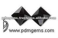 Black Onyx Faceted Cut Square Wholesale Loose Gemstone For Rings United Kingdom Black Onyx Faceted Square