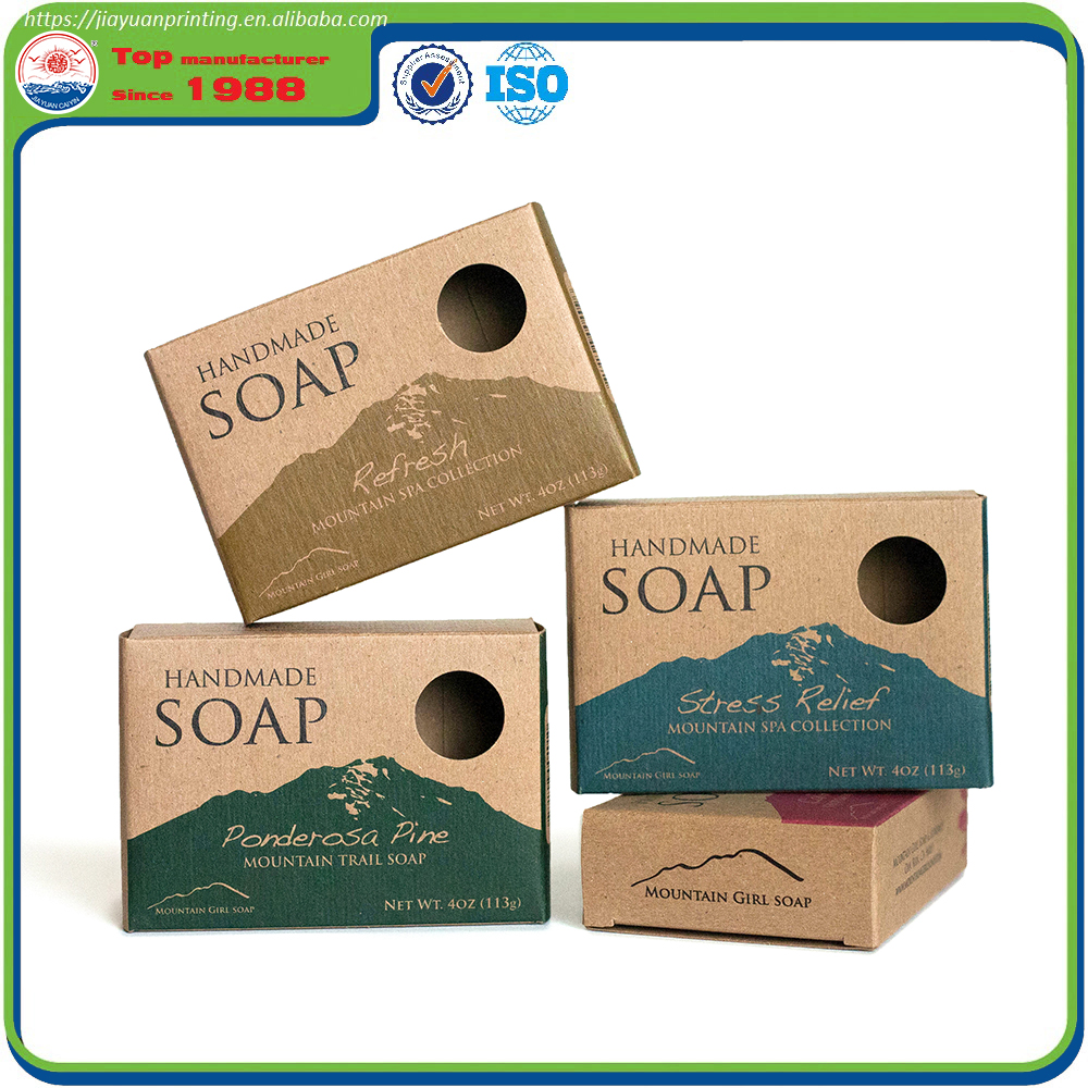 colored paper packaging soap box