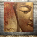 hand-painted home decoration Buddha canvas oil painting for sale
