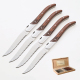Serrated Laguiole steak knife with wood handle bee knife steak knife set