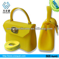 2013 New Design Cheap Silicone Ladies Fashion bags/ candy jelly handbag