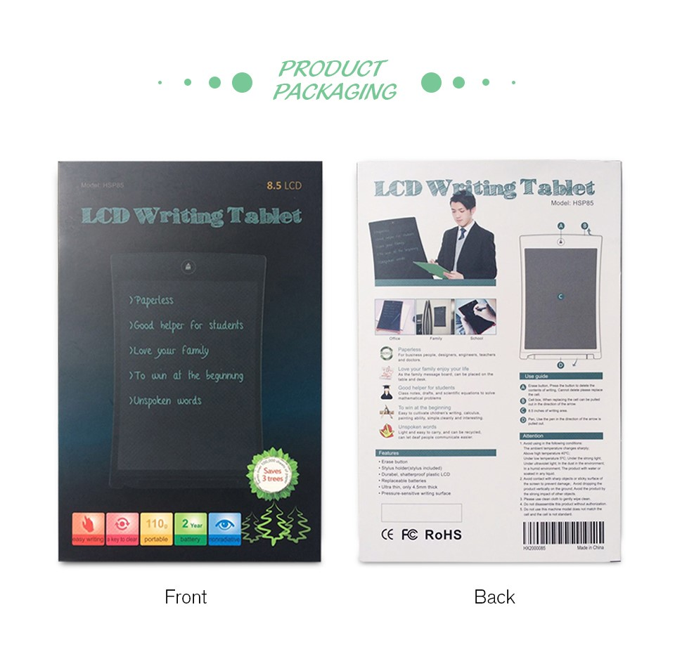2017 Hot Sale Product 8.5 Inch Writing board A5 paper Magic Easy take LCD handy board