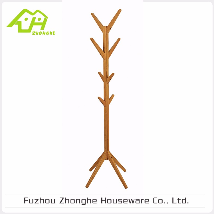 Good Quality Wooden Tree Shaped Heated Coat Rack, Standing Coat Rack