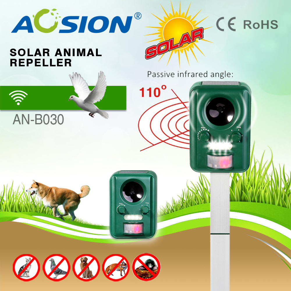 Outdoor Solar ultrasonic bird and animal repellant