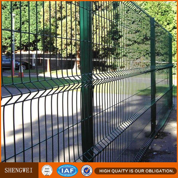PVC coated galvanized ornamental cheap wire mesh fence for boundary wall