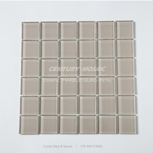 "factory price 2x2""mirror glass square color glass mosaic swimming pool tile"