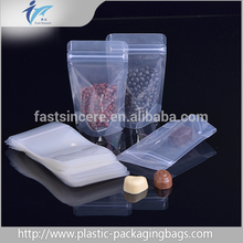 Food Grade Gravure Printing Plastic New Style Standup Ziplock Pouch zip lock bag stand up pouch with zipper