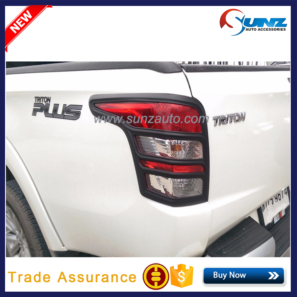 Tail Light Cover For <strong>Mitsubishi</strong> Triton <strong>L200</strong> 2015 2016 2017 ABS Matte Black Rear Light Cover
