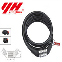 whole sale High quality Coiled Cable Bicycle Bike Security Spiral Lock