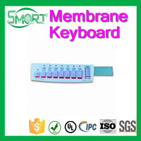 Smart Bes tactile Custom branded Membrane Switch Keyboard with foil