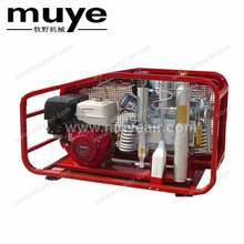 Commercial large scale 7.5kw scuba diving breathing air compressor power by gasoline engine motor