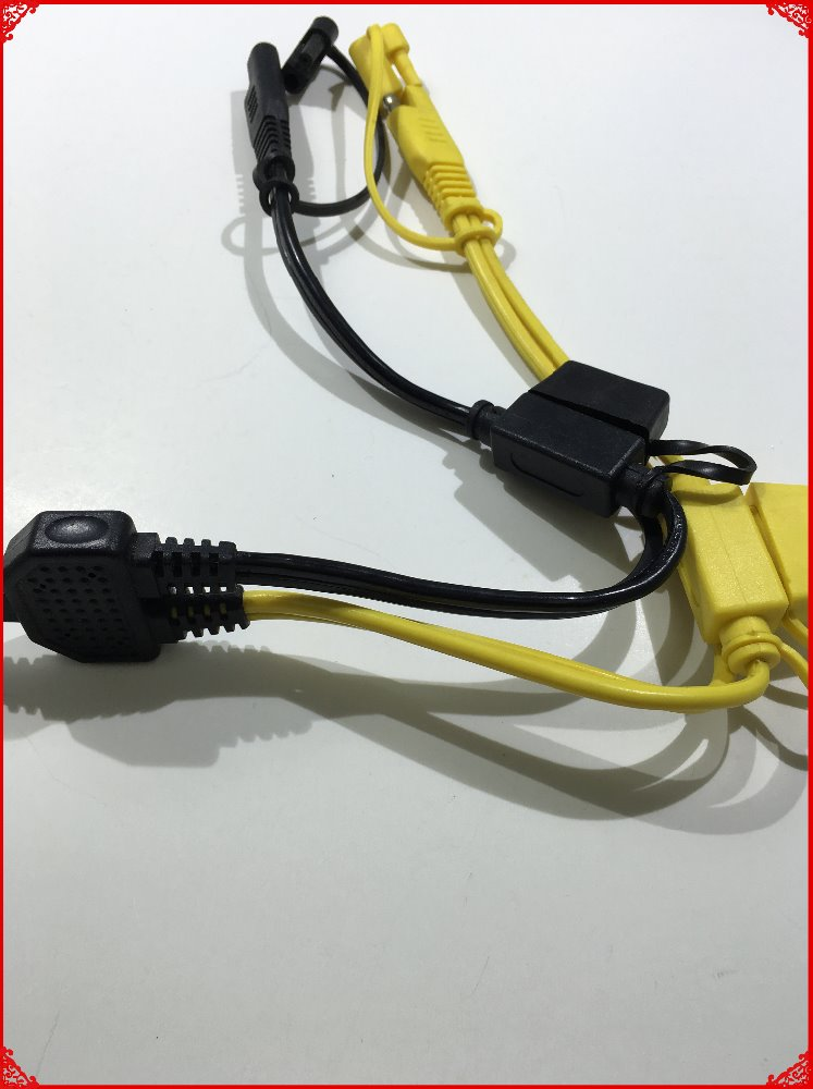 Y TYPE Double SAE Connector and Double Fuse Holder Lead Auto Electrical Cable