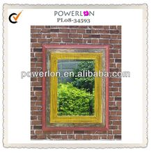 Garden use plain wooden mirror frame