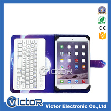 Alibaba wholesale universal bluetooth tablet leather case with printing designs with keyboard for 10 inch for ipad 2/3/4