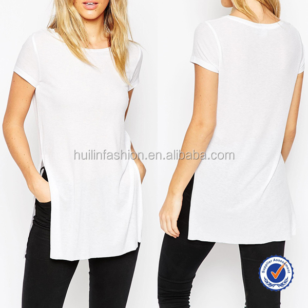 Wholesale high quality bulk blank t shirts women white Bulk quality t shirts