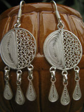 EARING IN FILIGREE SILVER 950 HANDMADE