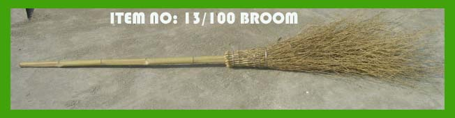 Bamboo brooms for European Countries cleaning outdoors environment protection.