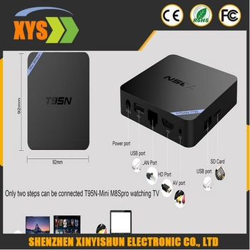T95N Mini M8S pro TV BOX 1GB+8GB Amlogic S905 Quad Core Android 5.1 2.4G Wifi+Bluetooth HD2.0 4K2K Output Mini M8Spro