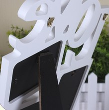 Love shaped white color home decoration picture frame