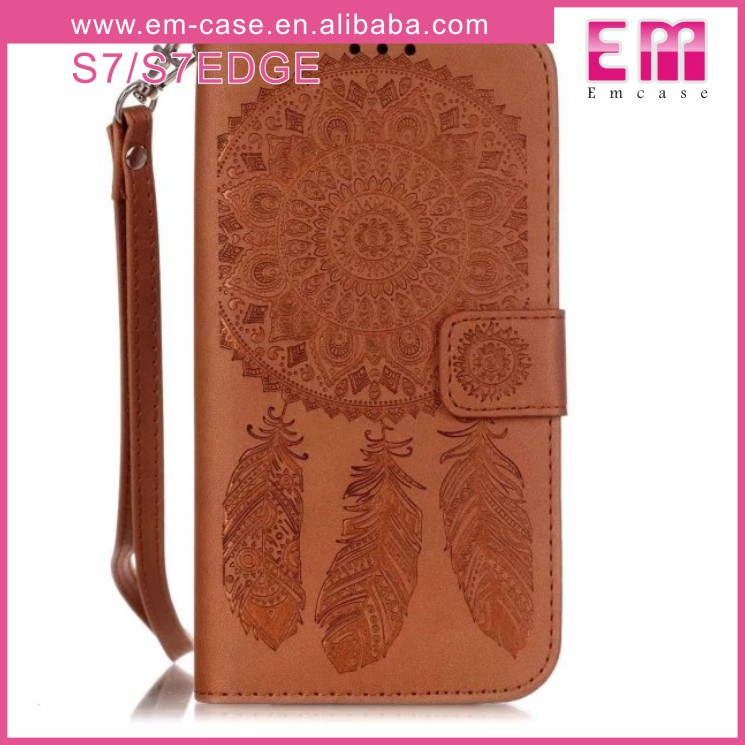 For Samsung Galaxy S7 Slim Leather Case Flowers Wallet Case For Samsung S7 Edge