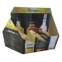 design 6 bottle wine pack carrier box with glossy lamination