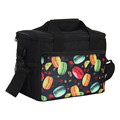 Portable Printing Pattern 8 Cans Thermal Cooler Bag Tote Storage Bag