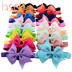 Wholesale flower baby headbands elastic flower headband