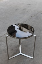 Black mirror glass table,coffee table of furniture