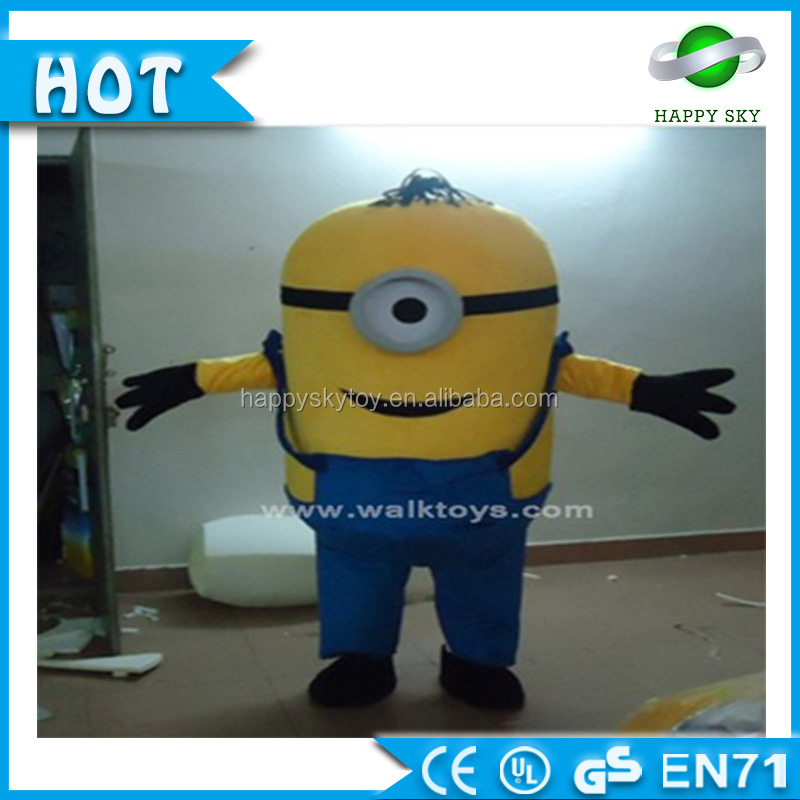 China Professional Costume Supplier Minion Mascot Costume For Adult!Movie Cartoon Minion Mascot Costume For Kid!