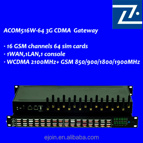 Ejoin 16 channel 64 sim goip gateway unlimited india calling voip