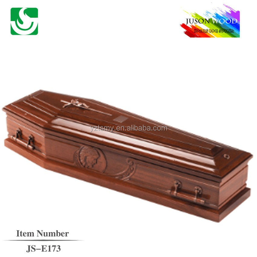 trade accurance supplier wholesale poplar antique wooden coffin