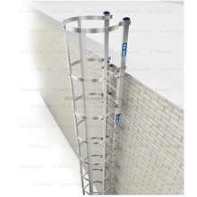Fire escape evacuation aluminium ladder ladders Briks