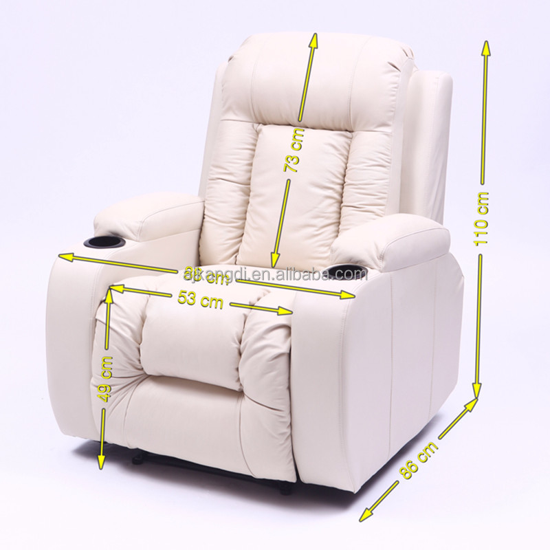 Leather home theater chair electric recliner <strong>sofa</strong> with cup holder KD-MS7027