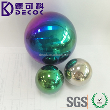 Mirror polished gazing colored colorful rainbow hollow sphere stainless steel ball
