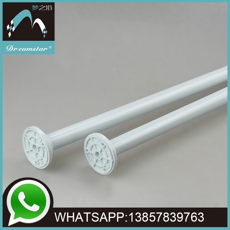 Telescopic stage shower curtain pole