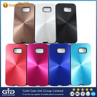 [NP-2278] CD Lines Mental + TPU Case for Samsung for Galaxy S6 G920 G920A G920F G920FD G920I G920T