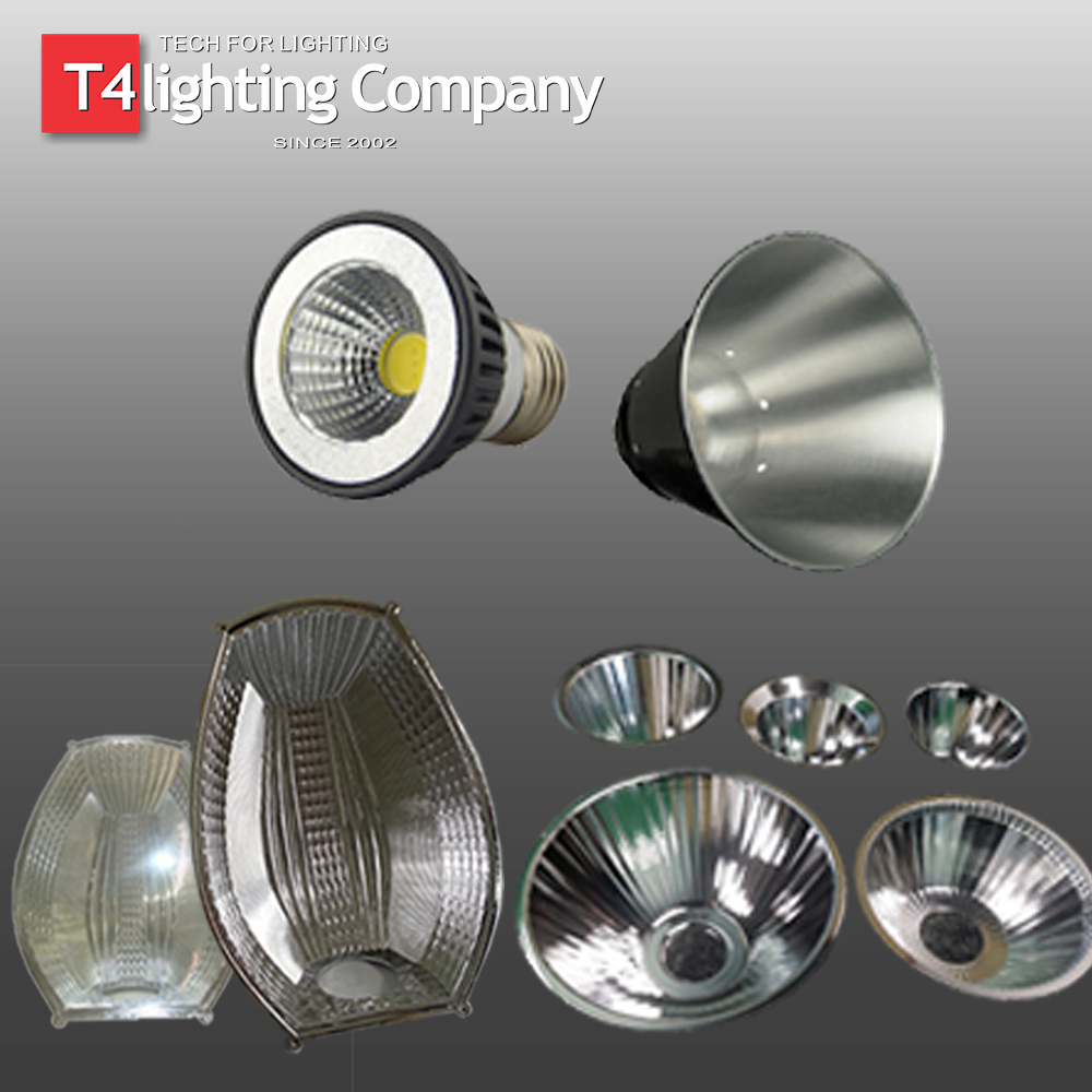 LED Street Light Spotlight Flashlight Lamp COB Aluminium Light Reflector
