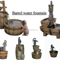 Classic Barrel Water Fountain For Garden