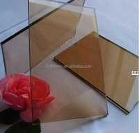 4mm thick polishing glass ceramic plate for fireplace glass door