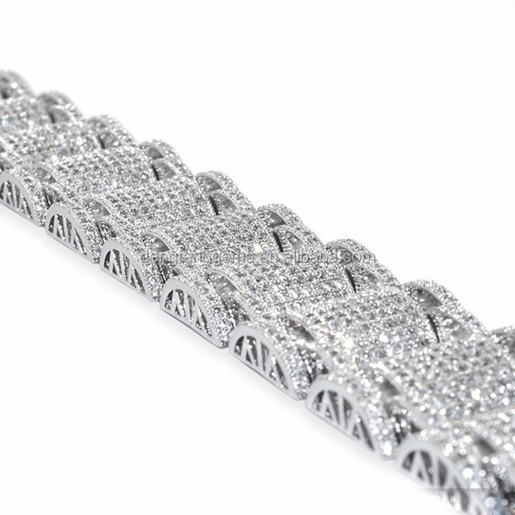 Wholesale factory price best selling products 2016 fashion 925 silver cz bracelet